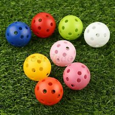 Outdoor Airflow Hollow Perforated Plastic Golf Balls Practice Training Ball