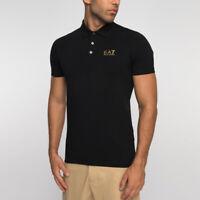 EA7 Emporio Armani Short Sleeve Polo Shirt - Black/Gold