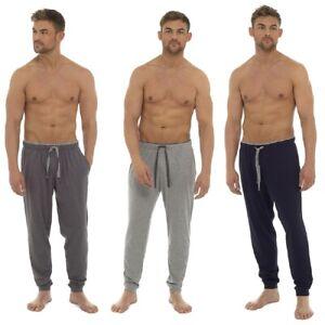 Mens Cuffed Ankle Lightweight Summer Lounge Pants / Pyjama Bottoms