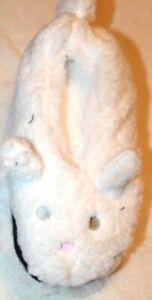 Women's Critter White Slipper Socks - Bunny 4-10/9-11
