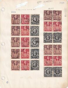 GREAT BRITAIN SC 249//251 $302 SCV SPECIALIST COLLECTION LOT WITH PAIRS