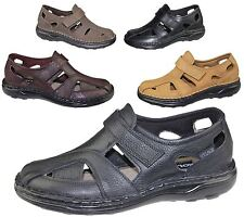 Mens Wide Fit Sandals Flat Beach Walking Fashion Casual Summer Slipper Size