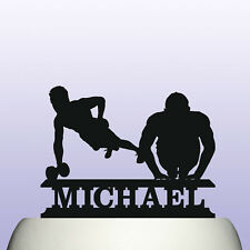 Personalised Acrylic Male Fitness Gym Training Birthday Cake Topper
