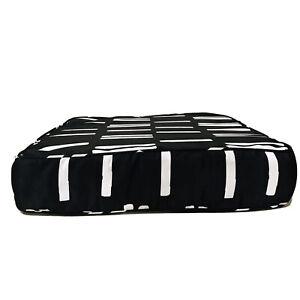 Stripe Outdoor Deep Seat Cushion DuraSeason Fabric Black/White Project 62 22x24