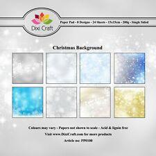 New Dixi Craft 15cm x 15cm Paper Pad Christmas Background