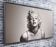 Marilyn monroe panoramique wall art toile impression xxl 4.5 pi de large x 2 ft high