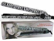 Professional Ceramic Tourmaline Plates Hair Straightener Flat Iron Zebra Print