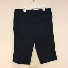 5/48 Saks Fifth Avenue Off Fifth Capri Pants Black Slacks Size 8 Woman's Shorts