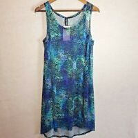 Swimsuits For All Quincy Nordic Blue Mesh Swim Beach Dress Cover Up Sz 14-16