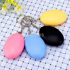 120dB Loud Personal Anti Rape Security Alarm Attack Panic Emergency Egg Keychain