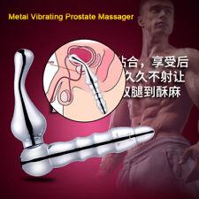 Metal Male_Prostate Massager Anal-Butt-Plugs P-Spot Masturbator_Vibrator for Men