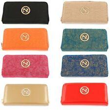 Damen-Geldbörsen & -Etuis im Clutch-Tasche-Stil mit Umlaufender Reißverschluss und Kunstleder