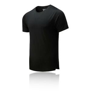 New Balance Mens Q Speed Jacquard Running T Shirt Tee Top - Black Sports