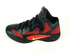 Nike Zoom Hyperfuse 2011 Mens Red Black Basketball Hi Top Trainers UK 12 EU 47.5