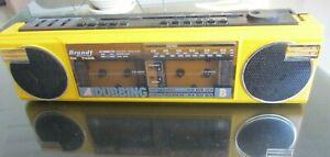 Brandt électronique RK 749S Stereo Dual Cassette Recorder Boombox Dubbing, Mic