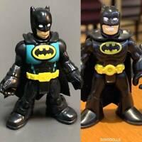 Lot 2 Imaginext DC Super Friends BLUE & BLACK Batman action figure toy gift