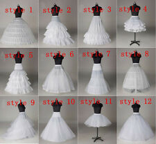 12 style Wedding Bridal A Line Hoop / Hoopless Crinoline Petticoat Slip Underski