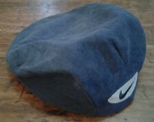 8a669fbec18 Vintage NIKE Newsboy Cap Hat 100% Cotton Blue Swoosh XL Snap Front USA Made