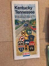 1984 Exxon Esso Enco Kentucky Tennessee Road Map