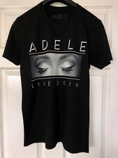 Women's ADELE LIVE 2016 Tour Official Black T Shirt Uk Size Medium