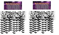 2 X 3m Halloween Hanging Bats Ceiling Hang Bats Wall Decoration Bunting Garland
