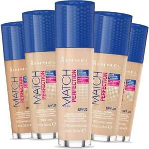 RIMMEL Match Perfection Foundation SPF 20 30ml - CHOOSE SHADE - NEW Sealed