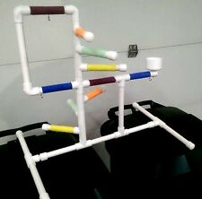 "Deluxe Large 3/4"" PVC Parrot Perch  Stand  Play Gym ** Birds Love Them!"