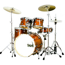 "Taye Tour Pro 5 Piece Stage Drum Kit in Antique Honey 22"" Bass & Hardware"