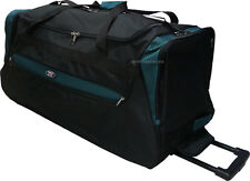 """Charlie Sports 30"""" Polyester Rolling Duffel Wheeled Luggage Suitcase -Turquoise"""