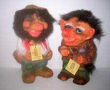 Vintage ERLING KRAGE Vinyl BERGEN Troll Dolls Made In Norway