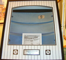 Framed Old Yankees Stadium Bleacher Seat Back Rest Used No 9 Limited Edition