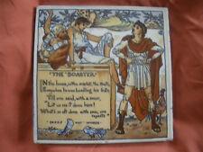 "Vintage Tile/Trivet -- Walter Crane ""The Boaster"" Mosaic Tile Company"