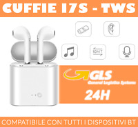 CUFFIE i7S AURICOLARI BLUETOOTH WIRELESS COMPATIBILI IPHONE, SAMSUNG, HUAWEI