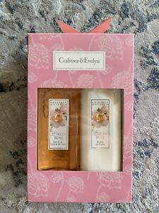 BRAND NEW CRABTREE EVELYN  CLASSIC EVELYN ROSE SHOWER GEL + BODY LOTION SET