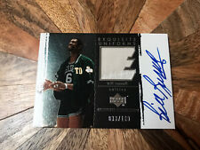 2003-04 Upper Deck Bill Russell Exquisite Collection Exquisite Auto Patch /100