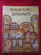 Vintage 1977 Macrame Zodiacs Pattern Booklet Handy Craft-Pak Astrological Signs