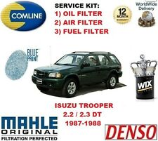 FOR ISUZU TROOPER 2.3 2.2 DT 1987-1988 OIL AIR FUEL FILTER  SERVICE KIT
