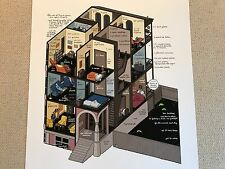 "CHRIS WARE Building History 2013 Giclee Print Signed & Numbered 24""x20"" Stories"