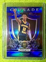 JA MORANT PRIZM ROOKIE CARD JERSEY #12 MS RC GRIZZLIES - 2019 Prizm CRUSADE BLUE