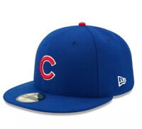 Chicago Cubs New Era 2016 World Series Patch 59FIFTY On-Field Fitted Hat - Sz 8