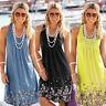 Party Evening Cocktail Short Sundress Boho Dresses Summer Beach Maxi Women Dress