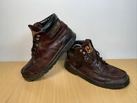 CATERPILLAR GENUINE LEATHER LACE UP BROWN BOOTS SHOES SIZE UK 8 EUR 42