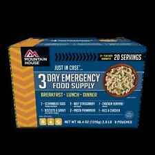 Mountain House Just In Case 3-Day Breakfast Lunch Dinner Freeze Dried Meal Kit