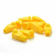 Boots for RJ45 Cat5e Ethernet Network Cables YELLOW [Pack of 10] [007856]