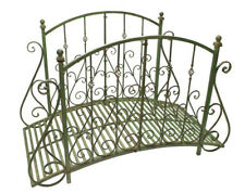 "Garden Bridge  37.5 "" Tall - Iron - Rustic Green Finish - Garden Decor"