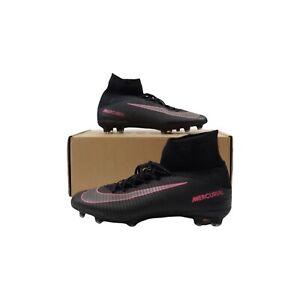 Nike Mercurial Superfly V FG Football Boots - Black/Pink / UK 7.5 (831940-006)