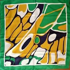 MARINA RINALDI Max Mara Tuch Schal Foulard Seide grün beige gelb weiß  NEU!