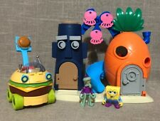 Lot Of Imaginext Spongebob Squarepants Squidward Bikini Bottom Playset