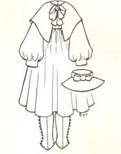 """23-24"""" Doll Dress hat Pattern Victorian German French Antique vintage look 961"""