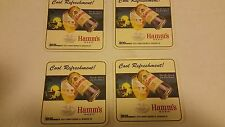 4 Hamm's Beer Coasters Can Glass Hamms